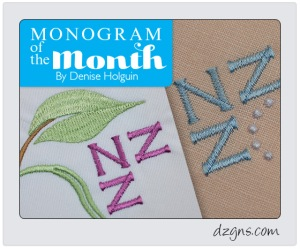 Monogram of the Month - January