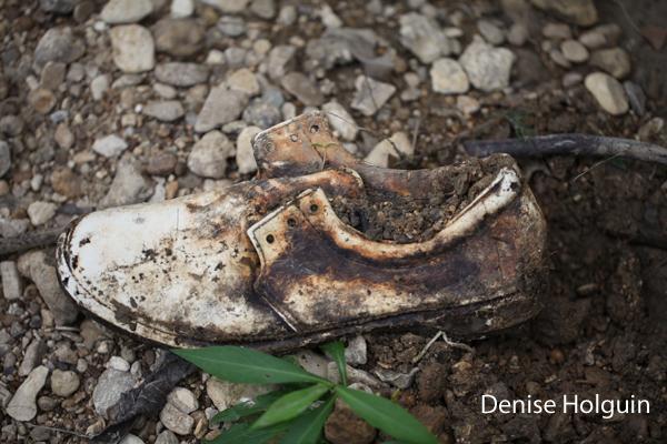 Abandoned shoe at Bob Woodruff Park